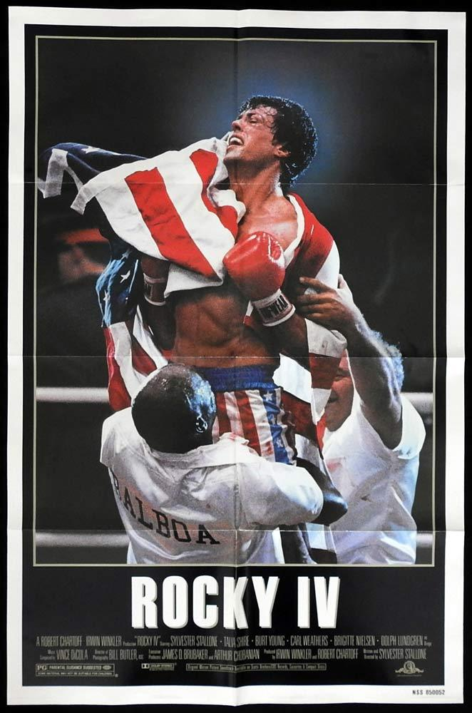 ROCKY IV Original US One sheet Movie poster Sylvester Stallone Boxing