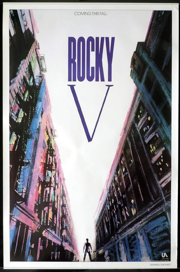 ROCKY V Original Advance One sheet Movie poster Sylvester Stallone