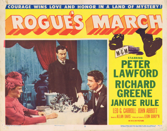 ROGUE'S MARCH 1953 US Lobby Card 5 Peter Lawford