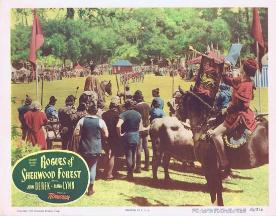 ROGUES OF SHERWOOD FOREST 1950 John Derek as Robin Hood Lobby card 3