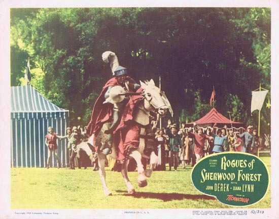 ROGUES OF SHERWOOD FOREST 1950 John Derek as Robin Hood Lobby card 5