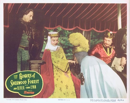ROGUES OF SHERWOOD FOREST 1950 John Derek as Robin Hood Lobby card 6