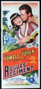 ROGUES REGIMENT Original Daybill Movie Poster Vincent Price Dick Powell