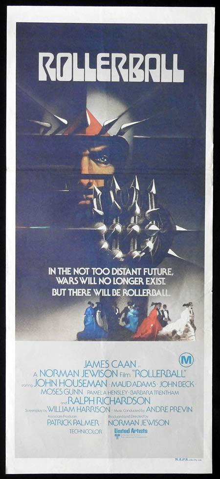 ROLLERBALL Original Daybill Movie Poster JAMES CAAN John Houseman