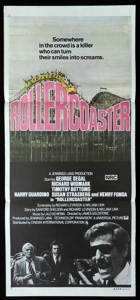 ROLLERCOASTER Original daybill Movie Poster George Segal Richard Widmark Timothy Bottoms