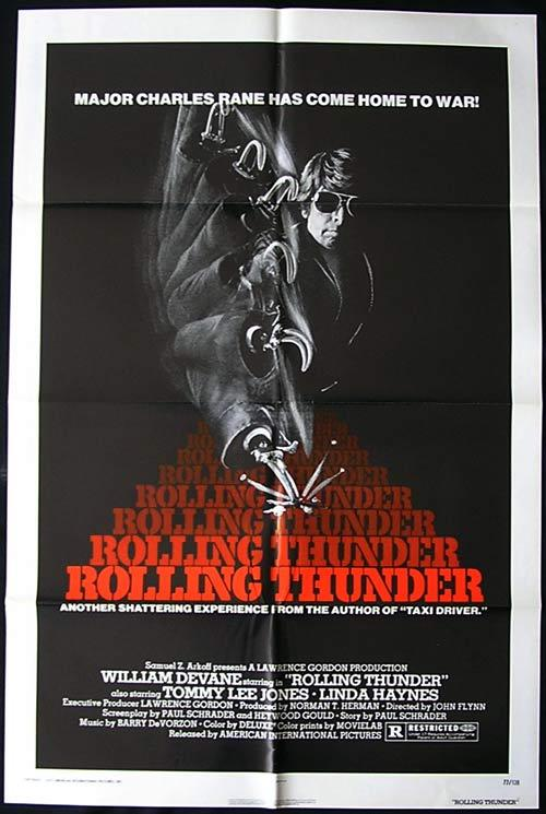 ROLLING THUNDER Tommy Lee Jones 1977 VIETNAM 1 sht Movie poster