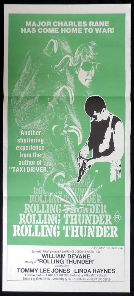 ROLLING THUNDER Original Daybill Movie Poster Tommy Lee Jones Vietnam