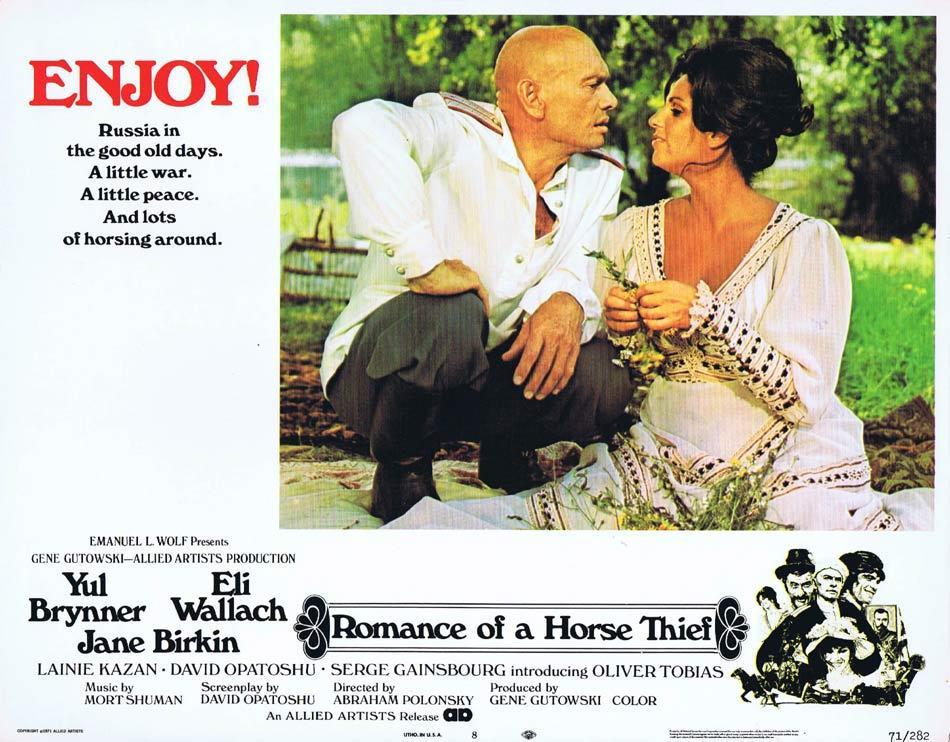 ROMANCE OF A HORSETHIEF Lobby Card 8 Yul Brynner Eli Wallach Lainie Kazan Jane Birkin