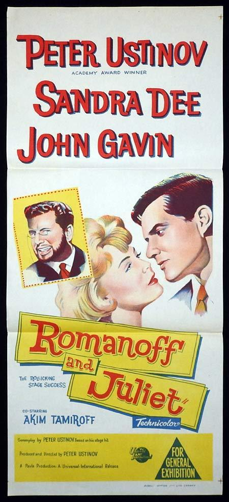 ROMANOFF AND JULIET Original Daybill Movie poster Peter Ustinov Sandra Dee