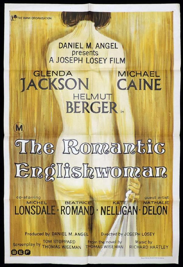 THE ROMANTIC ENGLISHWOMAN One Sheet Movie Poster Michael Caine Glenda Jackson