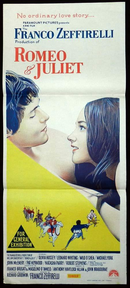 ROMEO AND JULIET Original Daybill Movie Poster Leonard Whiting Olivia Hussey