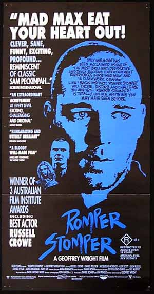 ROMPER STOMPER Orignal Daybill Movie Poster Geoffrey Wright