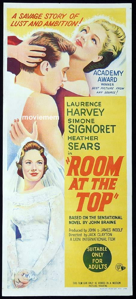 ROOM AT THE TOP Original Daybill Movie Poster Simone Signoret Laurence Harvey