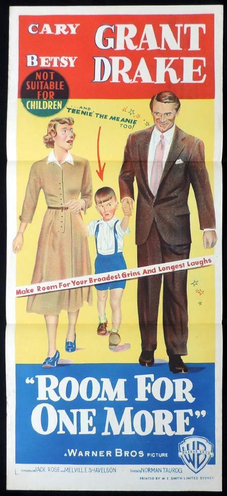 ROOM FOR ONE MORE Original Daybill Movie Poster Cary Grant Betsy Drake |  Moviemem Original Movie Posters