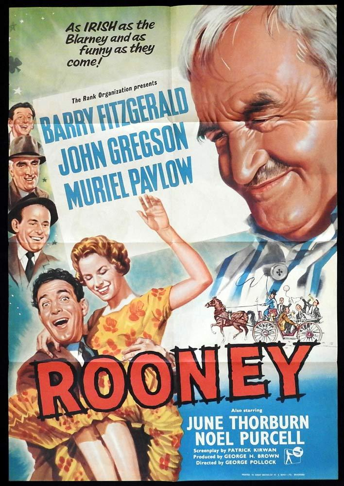 ROONEY British One Sheet Movie Poster John Gregson Barry Fitzgerald