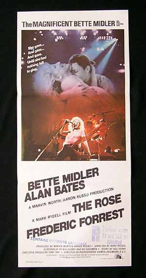 THE ROSE-Bette Midler-ORIGINAL Australian daybill poste