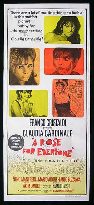 A ROSE FOR EVERYONE Daybill Movie poster Claudia Cardinale poster