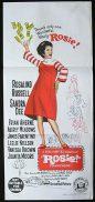 ROSIE! Movie Poster 1967 Rosalind Russell Sandra Dee Australian Daybill