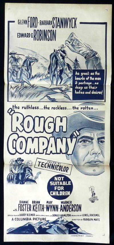 ROUGH COMPANY aka THE VIOLENT MEN Daybill Movie poster Glenn Ford