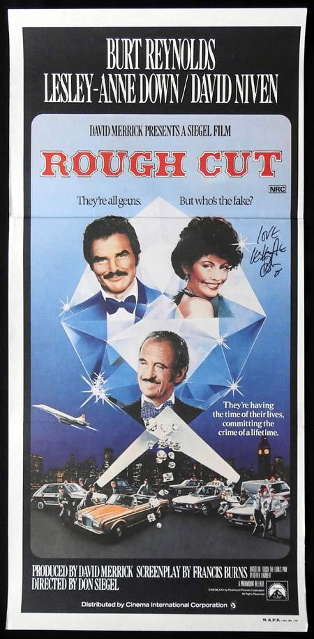 ROUGH CUT Original Daybill Movie Poster Autographed by Lesley Anne Down