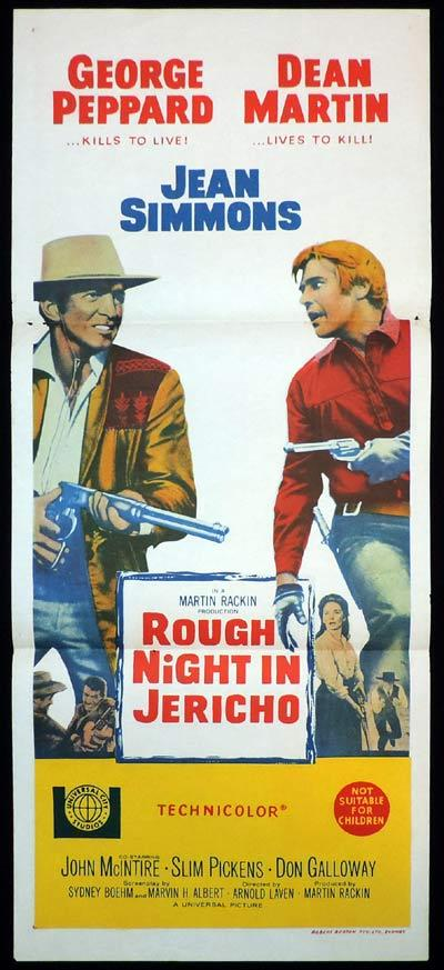 ROUGH NIGHT IN JERICHO Daybill Movie Poster Dean Martin Western