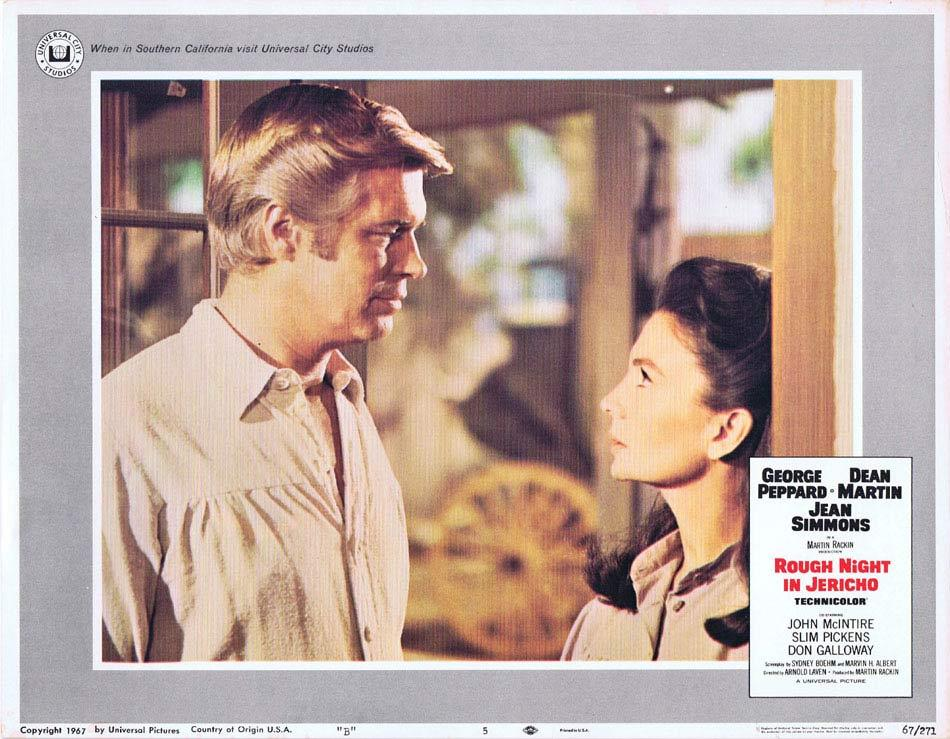 ROUGH NIGHT IN JERICHO Lobby Card 5 George Peppard Dean Martin Jean Simmons