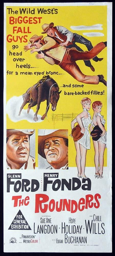 THE ROUNDERS Original Daybill Movie Poster Glenn Ford Henry Fonda