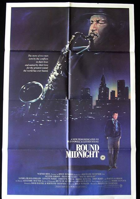ROUND MIDNIGHT Original One sheet Movie poster  Dexter Gordon Jazz