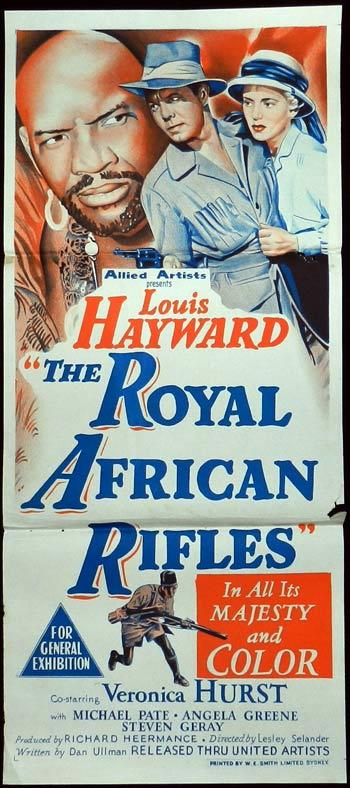 THE ROYAL AFRICAN RIFLES Daybill Movie Poster Louis Hayward