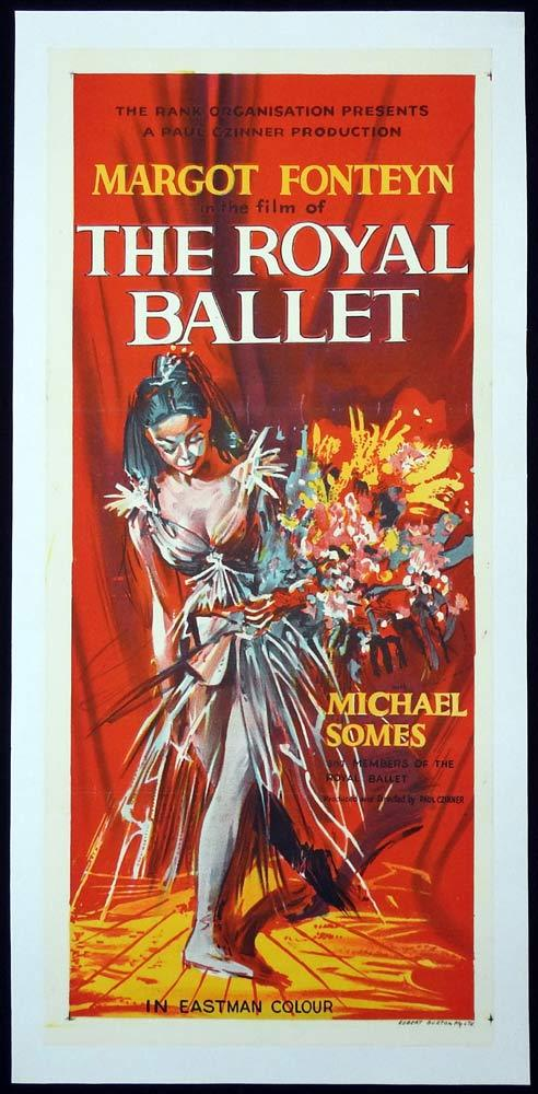 ROYAL BALLET Original LINEN BACKED Daybill Movie Poster MARGOT FONTEYN