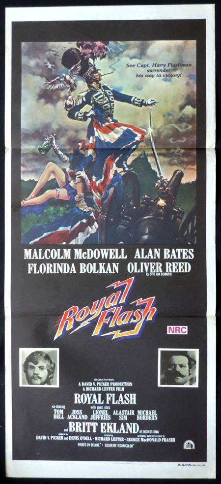 ROYAL FLASH Original Daybill Movie Poster Malcolm McDowell Oliver Reed