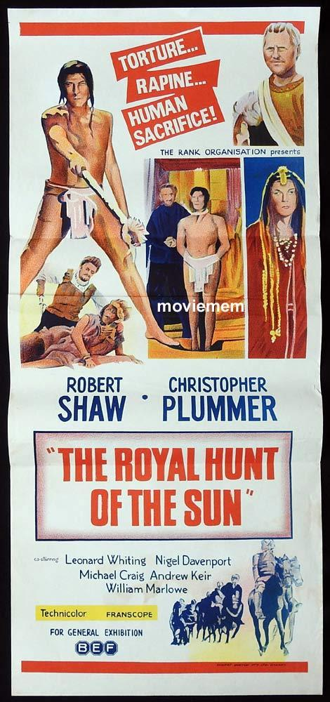 THE ROYAL HUNT OF THE SUN Original Daybill Movie Poster Robert Shaw Christopher Plummer