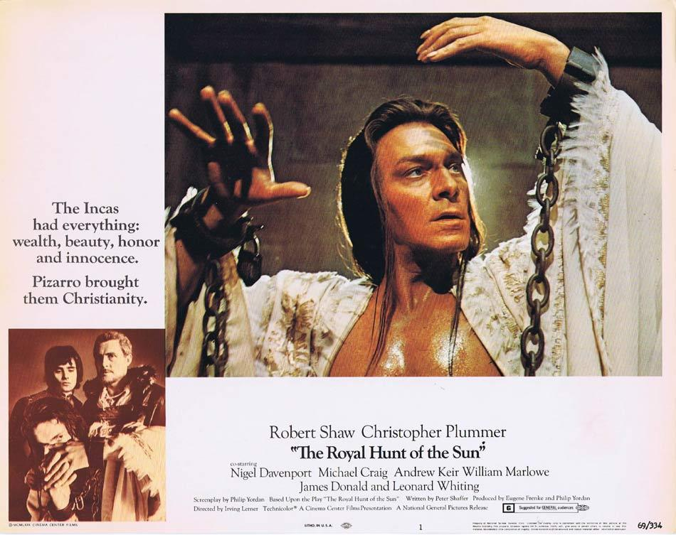 ROYAL HUNT OF THE SUN Lobby Card 1 Robert Shaw Christopher Plummer