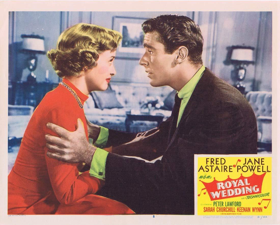 ROYAL WEDDING Original Lobby Card 8 Fred Astaire Jane Powell Peter Lawford