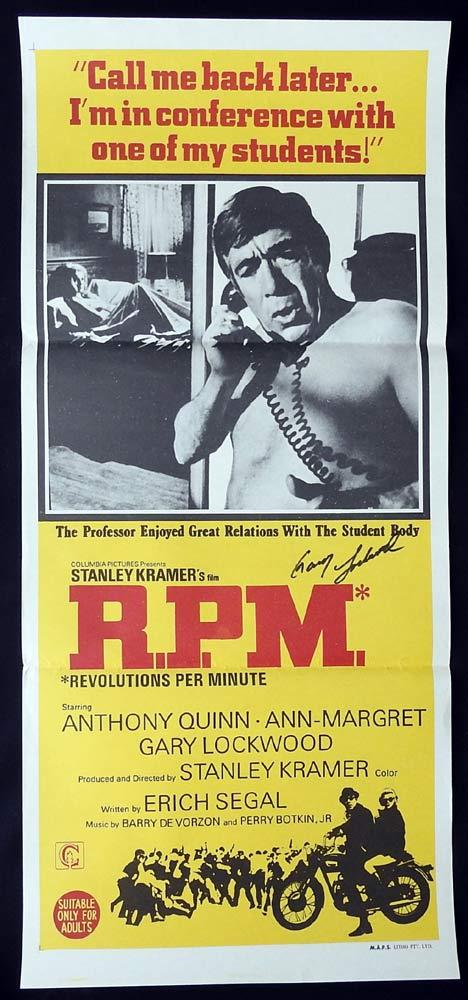RPM Daybill Movie poster AUTOGRAPHED by Gary Lockwood