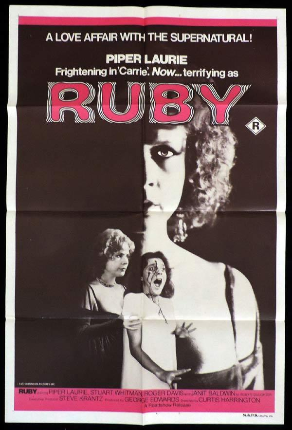 RUBY One Sheet Movie Poster Piper Laurie Horror