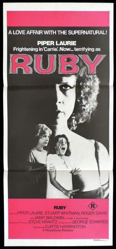 RUBY Daybill Movie Poster Piper Laurie Horror