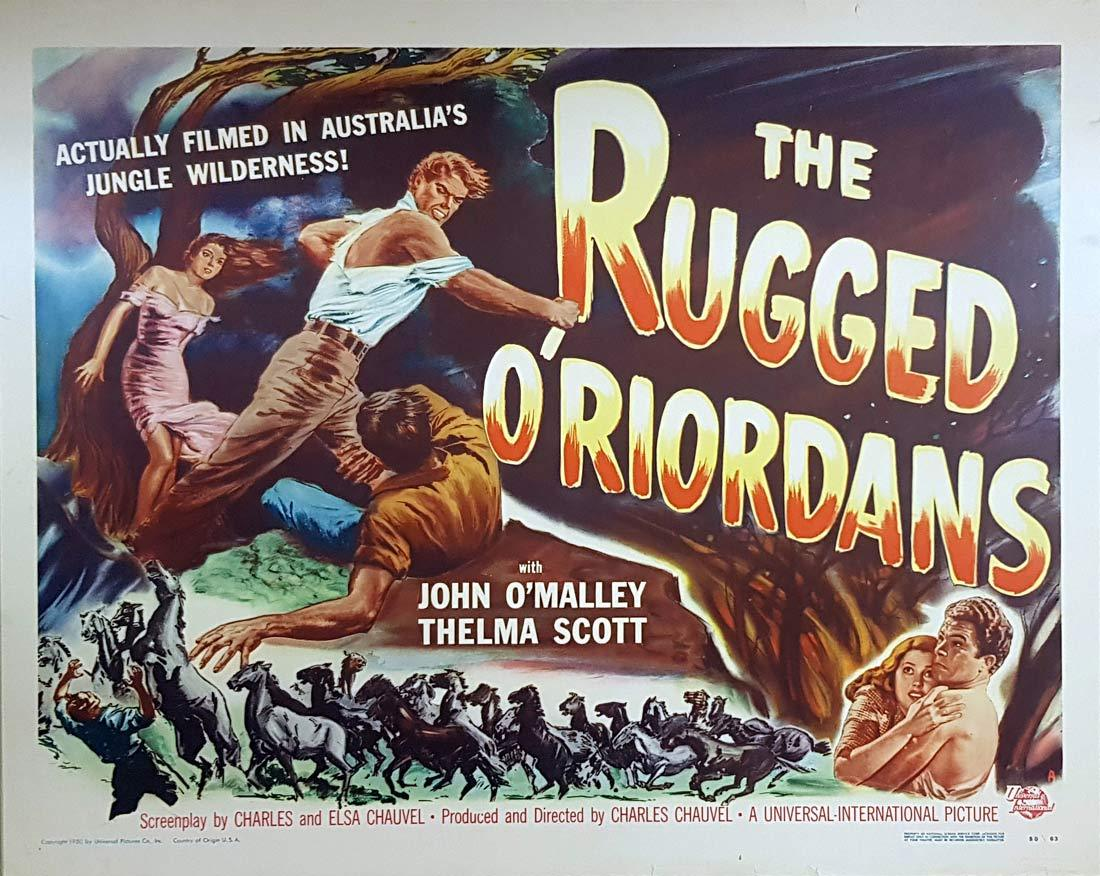 THE RUGGED O'RIORDANS aka SONS OF MATTHEW Original  US Half Sheet Movie poster