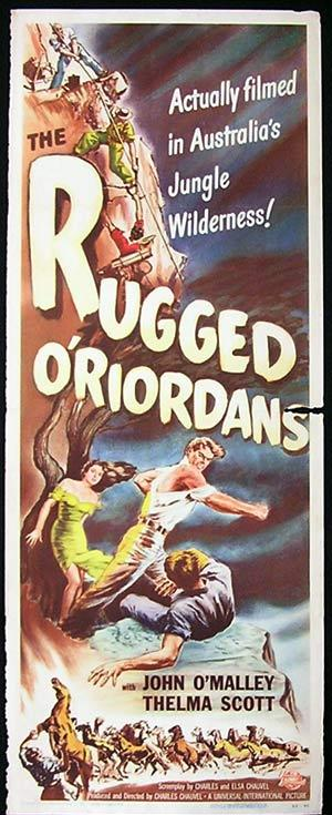 SONS OF MATTHEW aka THE RUGGED O'RIORDANS US Insert Movie Poster 1949 Charles Chauvel