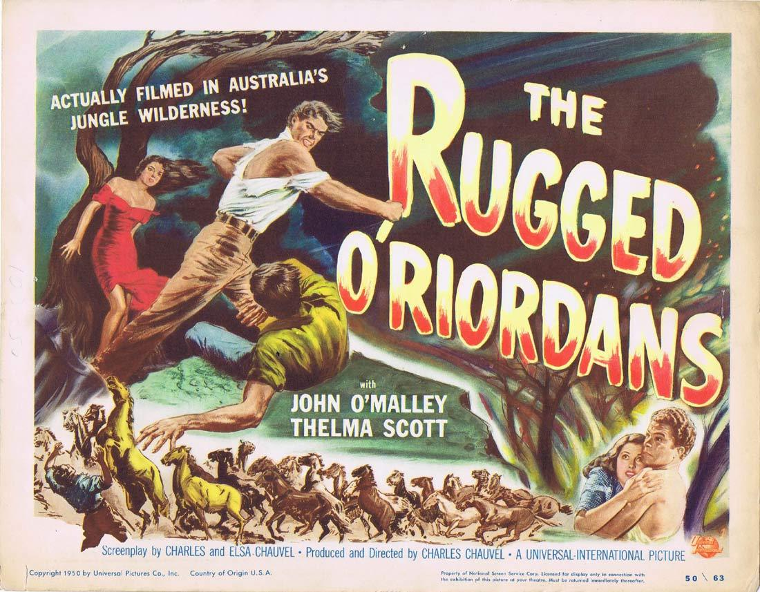 SONS OF MATTHEW aka THE RUGGED O'RIORDANS US Title Lobby Card 1949 Charles Chauvel