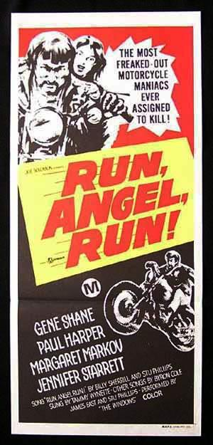 RUN ANGEL RUN '69 Daybill Movie Poster William Smith BIKER MOTORCYCLE