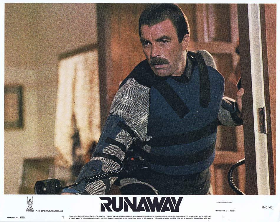 RUNAWAY Lobby Card 1 Tom Selleck Gene Simmons Cynthia Rhodes