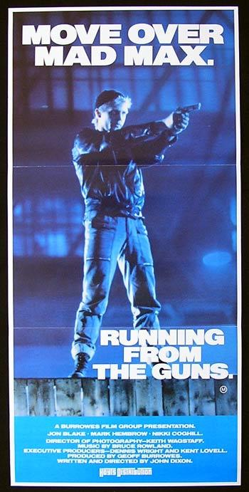 RUNNING FROM THE GUNS 1987 Classic AUSTRALIAN FILM Rare Movie poster
