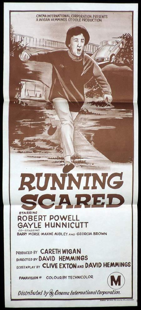 RUNNING SCARED Original Daybill Movie Poster Gayle Hunnicutt