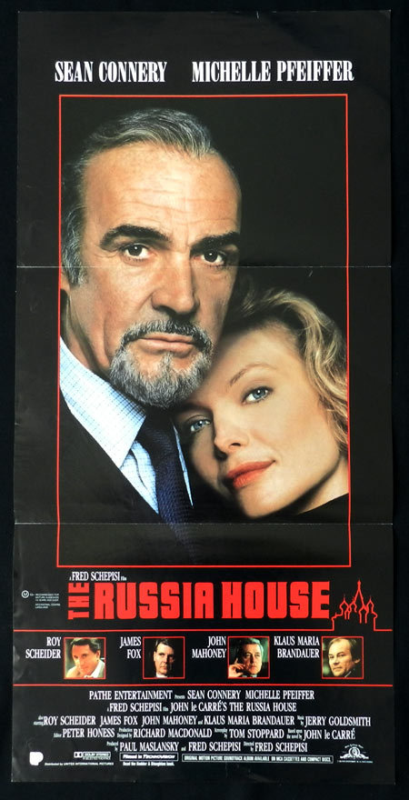 THE RUSSIA HOUSE Sean Connery Michelle Pfeiffer VINTAGE Daybill Movie poster