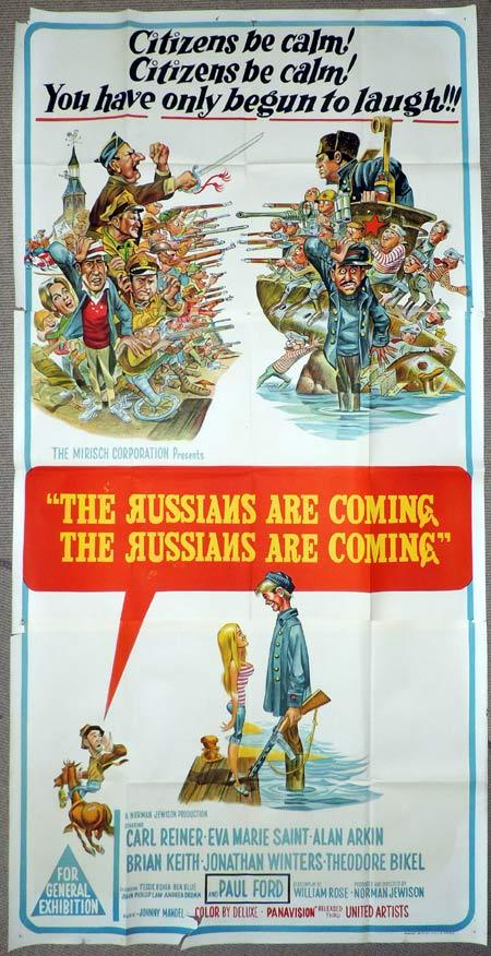 THE RUSSIANS ARE COMING Original 3 Sheet Movie Poster Carl Reiner