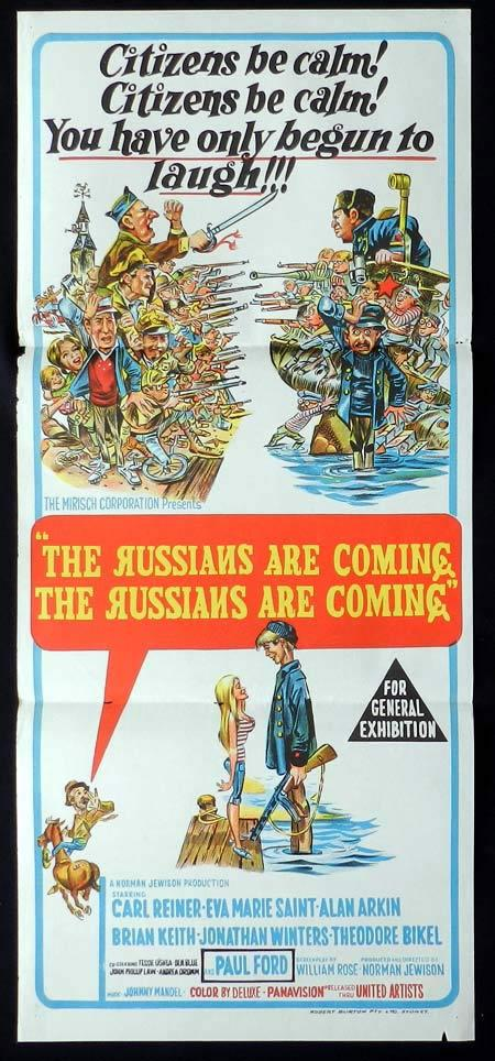 THE RUSSIANS ARE COMING Original Daybill Movie Poster Carl Reiner Eva Marie Saint