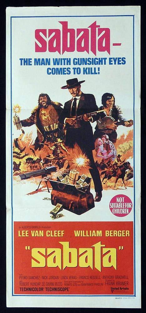 SABATA Original Daybill Movie Poster Lee Van Cleef William Berger