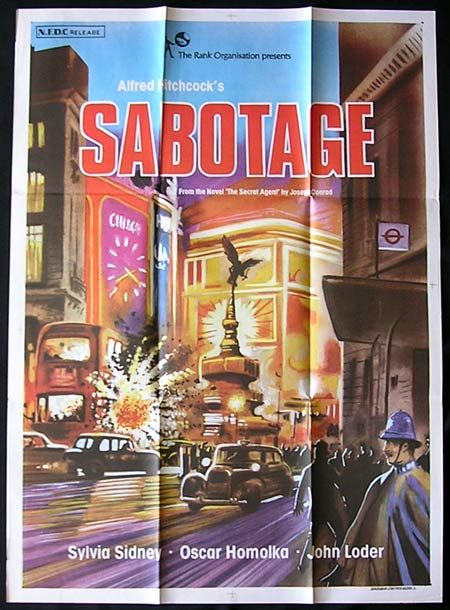 SABOTAGE '36-Hitchcock INDIAN poster