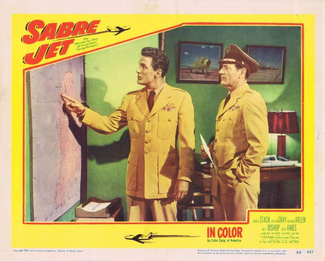 SABRE JET Lobby Card 3 Robert Stack Coleen Gray Richard Arlen